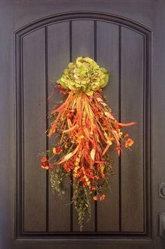 Fall Wreath Thanksgiving Autumn Teardrop by AnExtraordinaryGift