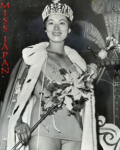 1959 Miss Universe: Akiko Kojima of Japan Miss Universe Swimsuit, Hawaiian Tropic, Music Promotion, Miss World, Old Hollywood Glamour, Beauty Pageant, Beauty Queens, Vintage Beauty, Music Lovers