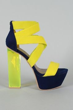 High Heel 404 The requested product does not exist. Strappy Sandals, Shoes Sandals, Clear Perspex, Neon Yellow, New Shoes, Block Heels, Open Toe, Heeled Mules, High Heels