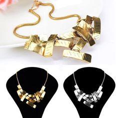 Women Chain Choker Chunky Pendant Fashion Statement Bib Necklace Gift New