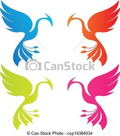 Vector - phoenix color - stock illustration, royalty free illustrations, stock clip art icon, stock clipart icons, logo, line art, EPS picture, pictures, graphic, graphics, drawing, drawings, vector image, artwork, EPS vector art