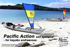 Pacific Action sail systems for kayaks and canoes