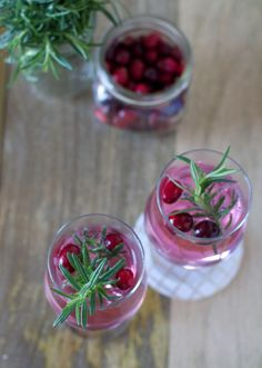 Sip It :: Cranberry Cocktail with Rosemary | Thoughtfully Simple
