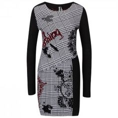 Rochie în carouri Desigual Madrid Madrid, Dresses For Work, Fashion, Moda, Fashion Styles, Fashion Illustrations