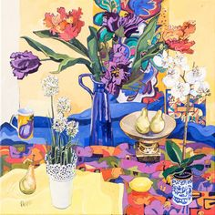 Orchids and tulips