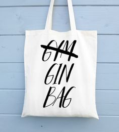 Be the envy of your friends with Gym/Gin Tote bag. At only £10 this is a must have this Spring and Summer. Who needs the gym when you have Gin anyway? Come and shop the tote bag made with love for you today.