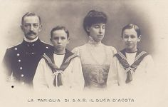 The Duke and the Duchess of Aosta with their sons by Miss Mertens, via Flickr