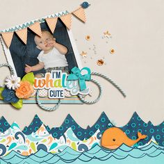 """""""This layout was created for the Sweet Shoppe Summer Shadowbox contest - come join the digital scrapbooking fun at SweetShoppeDesigns.com!"""" [url=http://www.sweetshoppedesigns.com/sweetshoppe/product.php?productid=28405&cat=0&page=1]Whaley Cute-Boy by Heather Roselli & Meghan Mullens[/url]"""
