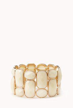 Heirloom Faux Stone Bracelet | FOREVER21 - 1000127605