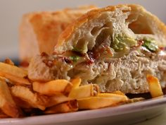 Chicken Avocado and Bacon Sandwich recipe from Diners, Drive-Ins and Dives via Food Network