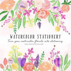 Watercolor Stationery Workshop – iamartisan