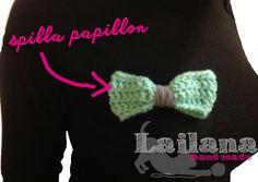 papillon brooch crochet handmade #lailanahandmade Lailana