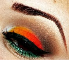 Reggae eye makeup