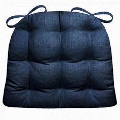 Rave Indigo Blue Patio Chair Cushions & Indoor/Outdoor Dining Chair Cushions