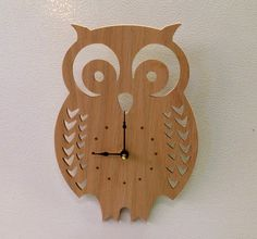 owl clock wood by ParkerCompany on Etsy, $15.00