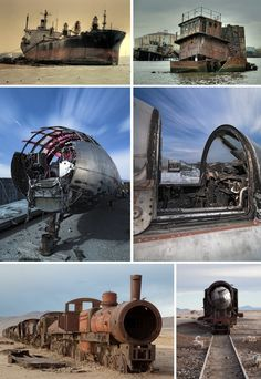Urban Ghosts has explored ship, train and aircraft cemeteries in a series of popular articles that received extremely positive feedback.  Fortunately, this means it's not just us who are fascinated by the strange sight of vast vessels and state-of-the-art jets rusting away seemingly forgotten.  Such objects appeal to a broad cross section of inviduals, from urban explorers to historians and general enthusiasts.  They also make great urbex photography subjects.