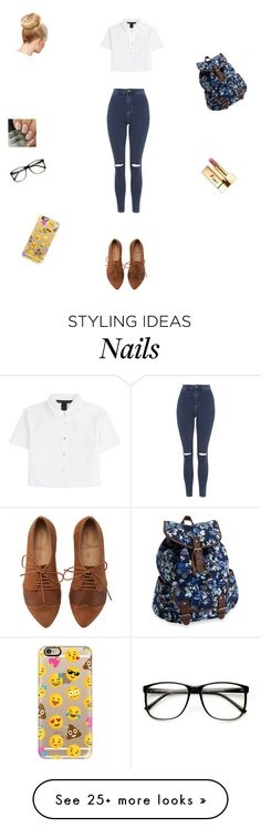 """Untitled #115"" by niqueyboo on Polyvore featuring Topshop, Marc by Marc Jacobs, Yves Saint Laurent, Casetify, Aéropostale, women's clothing, women, female, woman and misses"