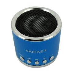 Portable Rechargeable Mini Speaker by Kaidaer:  For ipod, mp3, mp4, micro sd, laptop. Amazing what one little speaker can do! #Mini_Speaker #Kaidaer