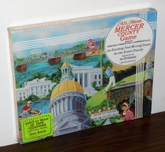 All+About+Mercer+County+Limited+Edition+Game+New+Jersey+Trenton+Princeton+Lawrenceville+1982+NIB
