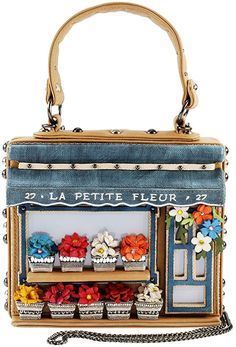 Looking for MARY FRANCES La Petite Fleur Embellished Flower Shop Themed Novelty Top Handle Bag ? Check out our picks for the MARY FRANCES La Petite Fleur Embellished Flower Shop Themed Novelty Top Handle Bag from the popular stores - all in one. Mary Frances Purses, Mary Frances Handbags, Cute Purses, Purses And Bags, Leather Purses, Leather Wallet, Unique Handbags, Unique Bags, Novelty Bags