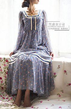 natural kei floral maxi dress