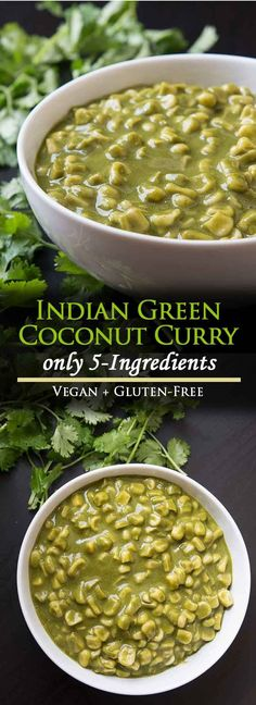 5-Ingredient Green Coconut Vegan Indian Curry #vegan #glutenfree #indianfood | Vegetarian Gastronomy | www.VegetarianGastronomy.com via @VGastronomy