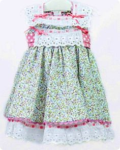 VESTIDO NINI Little Girl Dresses, Little Girls, Summer Dresses, Patterns, Clothing, Fashion, Vestidos, Kids Fashion Boy, Fashion For Girls
