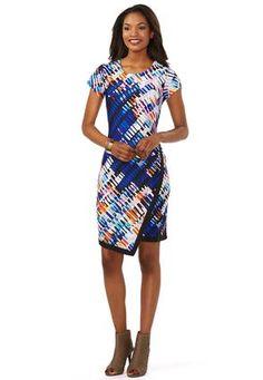 Cato Fashions Digital Print Envelope Dress-Plus #CatoFashions