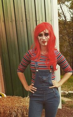 Sister of Chucky,makeup by me Chucky Makeup, Horror Makeup, Ronald Mcdonald, Punk, Style, Fashion, Swag, Moda, Fashion Styles