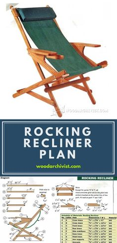 Rocking Recliner Plans - Outdoor Furniture Plans & Projects | WoodArchivist.com
