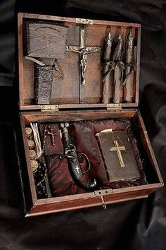 Early 19th Century French Vampire Hunting Kit.