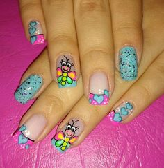 Lovely Nailart Inspirations Every Woman Must Attempt Right Today Nail Designs Spring, Simple Nail Designs, Nail Art Designs, Bright Summer Nails, Spring Nails, Sally Nails, Nailart, Types Of Manicures, Nail Time