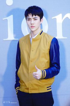 Sehun - 160714 'Dior Colors' Exhibition Opening  Credit: Baby's Breath.