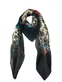 Modern Love Silk Georgette Scarf in Zebra