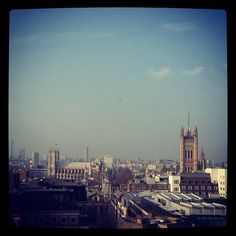Blue skies over London, the view from Burberry HQ