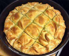 Πατατόπιτα - V for Vegan Greek Recipes, Desert Recipes, Pie Recipes, Vegan Recipes, Greek Cooking, Fun Cooking, Cookie Dough Pie, Bread Dough Recipe, Greek Sweets