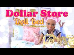 (1) DIY - How to Make: Dollar Store Doll Bed - Handmade Dollhouse Crafts - YouTube