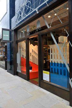 The Jack Spade window display as designed by Carl Turner Architects. Visual Display, Display Design, Jack Spade, Window Displays, Flags, Architects, Retail, Windows, London