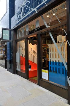 The Jack Spade window display as designed by Carl Turner Architects.
