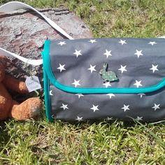 Petit sac étoilé en toile cirée et biais coloré - little bag
