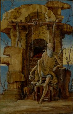 Saint Jerome in the Wilderness; Ercole de'Roberti (Italian, about 1450 - 1496); about 1470; J. Paul Getty Museum, Los Angeles, California