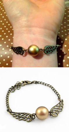 Golden Snitch bracelet.