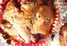 Málnás muffin csokoládédarabokkal