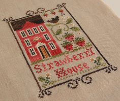 Strawberry House cross stitch