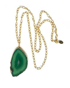 The Green Candy Slice Necklace by JewelMint.com, $36.00