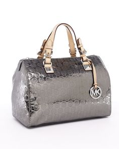 Love Michael Kors. Love silver handbags!