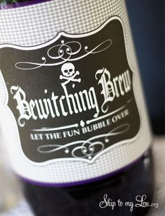 Free printable 2 L bottle label: Bewitching Brew Bottle for Halloween #halloween #print www.skiptomylou.org