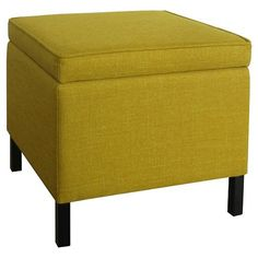Room Essentials Storage Ottoman Yellow At Target