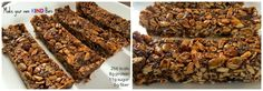 homemade bars like KIND Homemade Kind Bars, Nutrition Resources, Good Food, Yummy Food, Best Protein, Stop Eating, Clean Recipes, Bar Recipes, Dairy Free Recipes