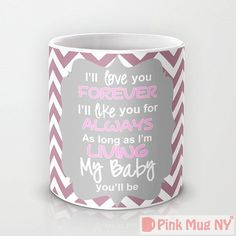 Personalized mug cup designed PinkMugNY  Chevron by PinkMugNY, $10.95